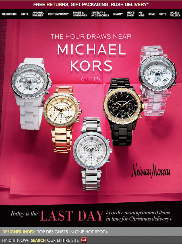 michael kors newsletter