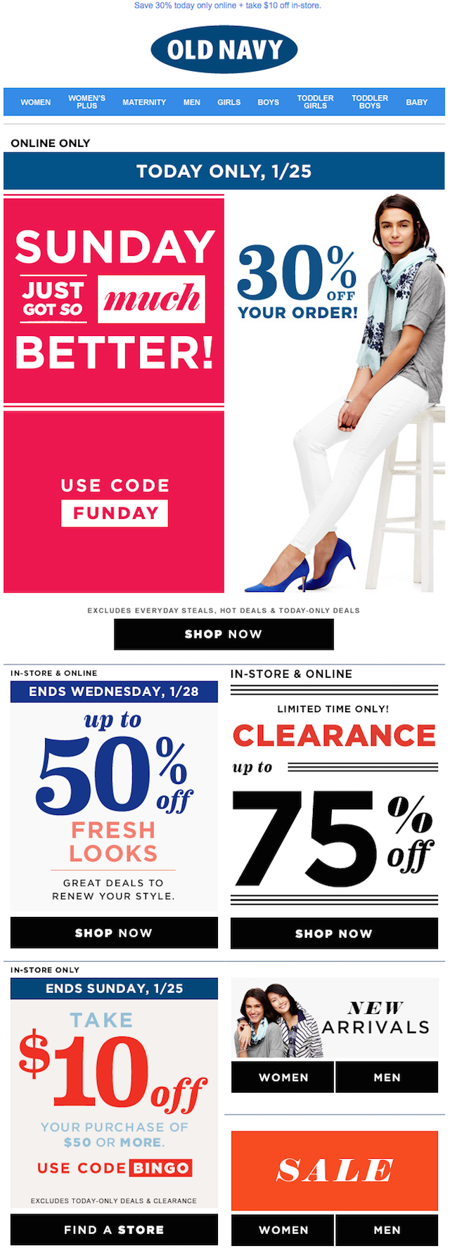 Old Navy discounts