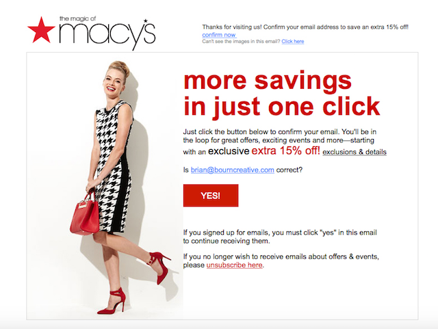 Double op-in: Macy's