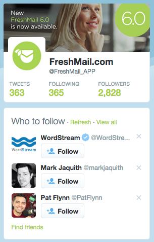 FreshMail Twitter