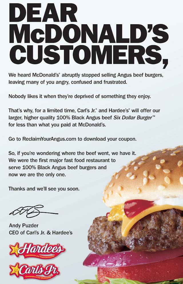 Advertisement: Carl's Jr. & Hardee's