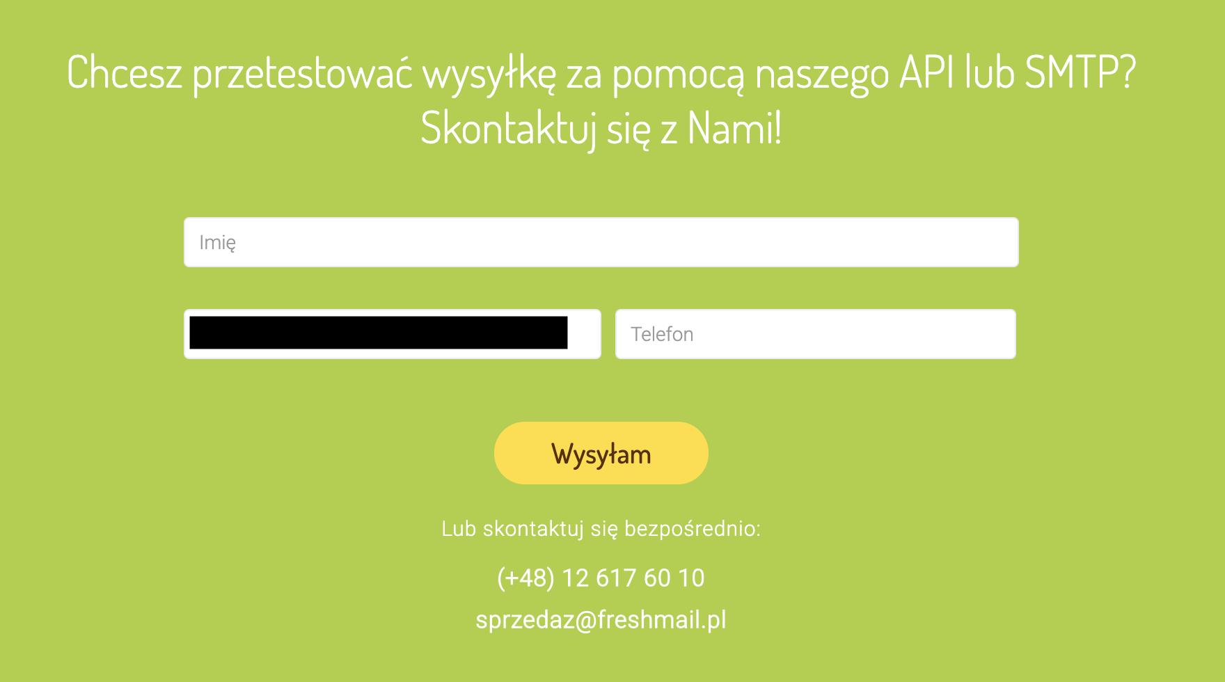 Emaile API i SMTP FreshMail