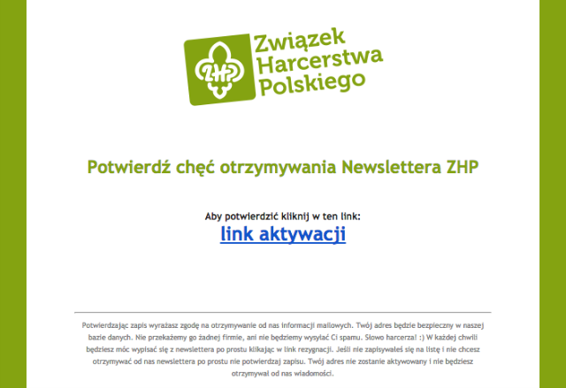 Zapis do newslettera