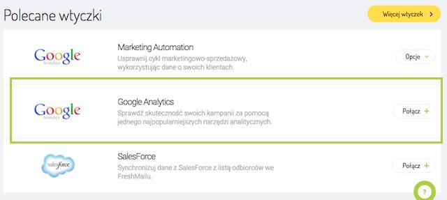 Polecane wtyczki - integracja Google Analytics