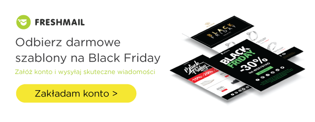 Black Friday szablony do mailingu