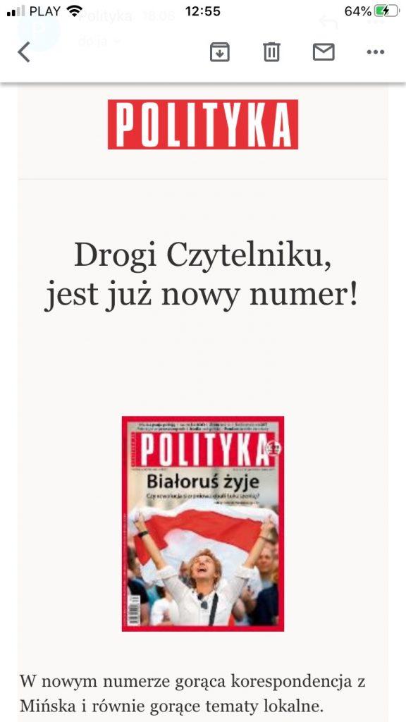 newsletter tygodnika polityka