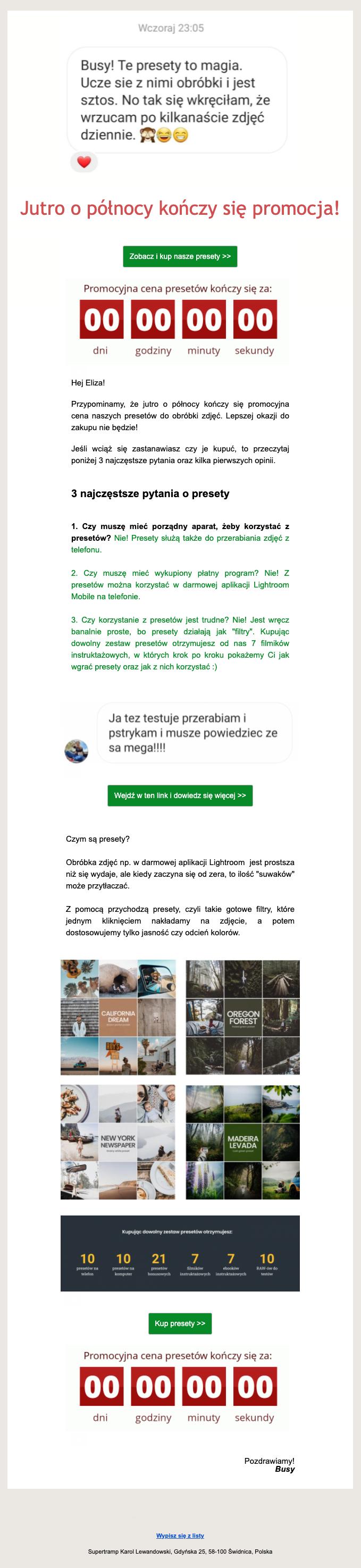 Newsletter - przykład opinie klientów, Busem Przez Świat