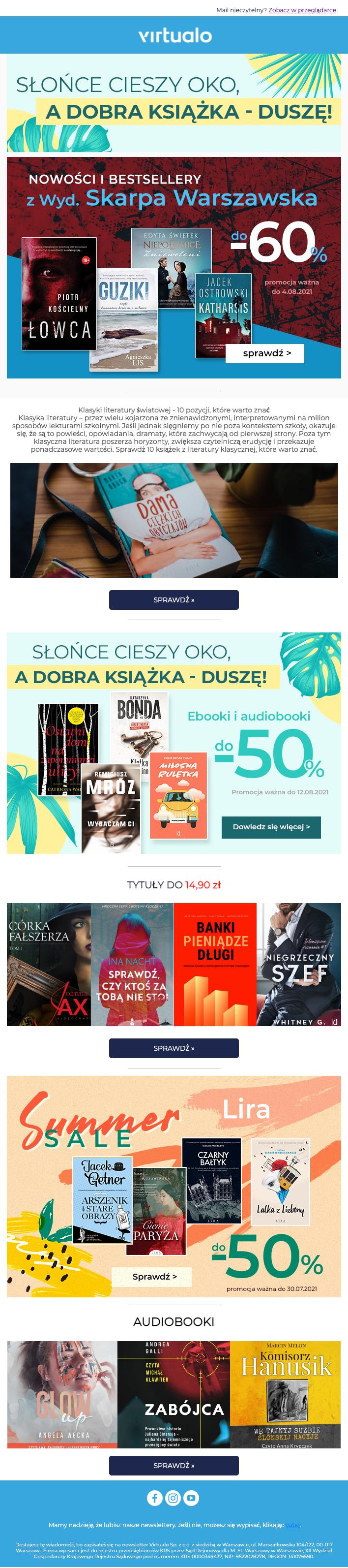 newsletter przykład księgarnia